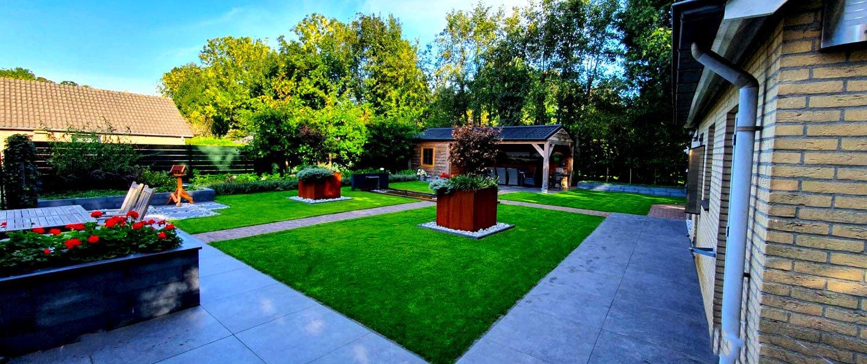 Tuinontwerp en tuinaanleg landelijke tuin in Lith