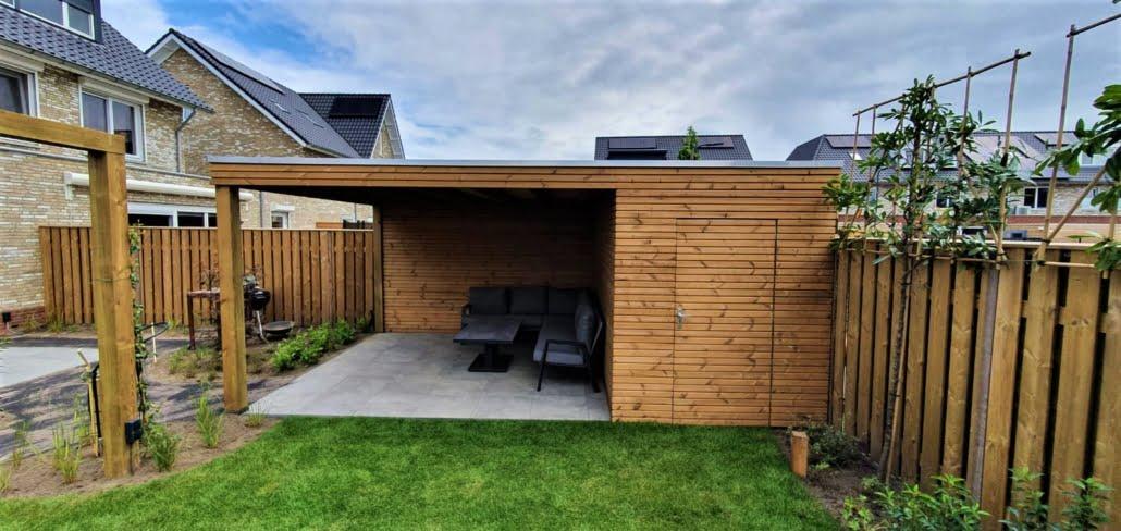 Keramische tegels bij familie tuin in Rosmalen